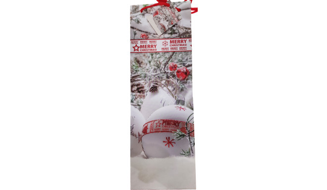 Kinkekott pudelile Jõulud 13x36x8,5cm