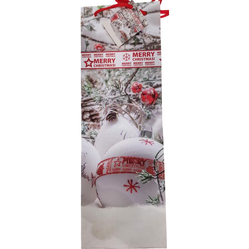 Kinkekott pudelile Jõulud 13x36x8,5cm, assortii