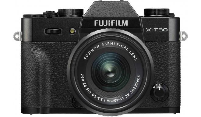 Fujifilm X-T30 + 15-45мм Kit, черный