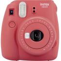 Fujifilm Instax Mini 9, poppy red + Instax Mini paber