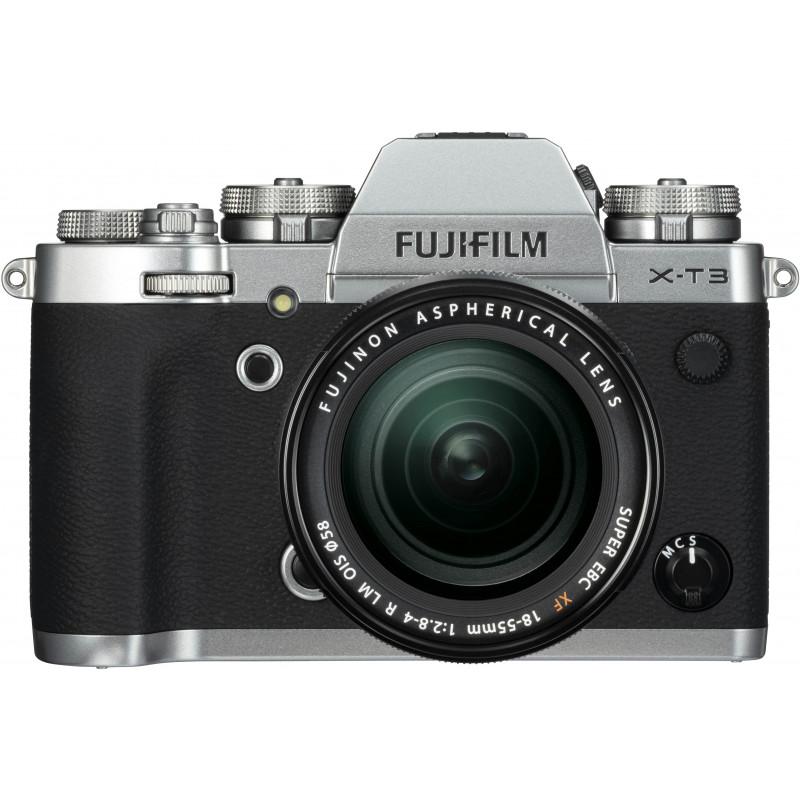 Fujifilm X-T3  + 18-55mm + 55-200mm Kit, hõbedane