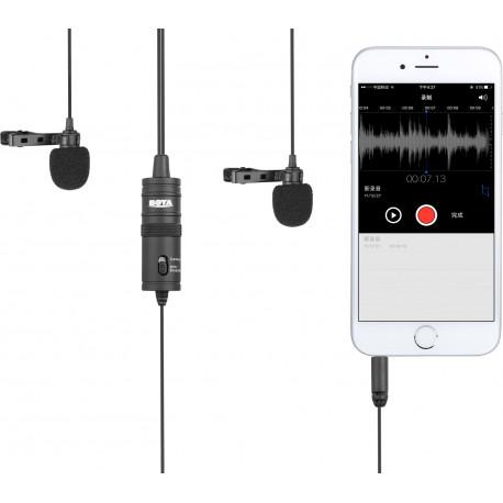 Boya микрофон BY-M1DM Dual Lavalier