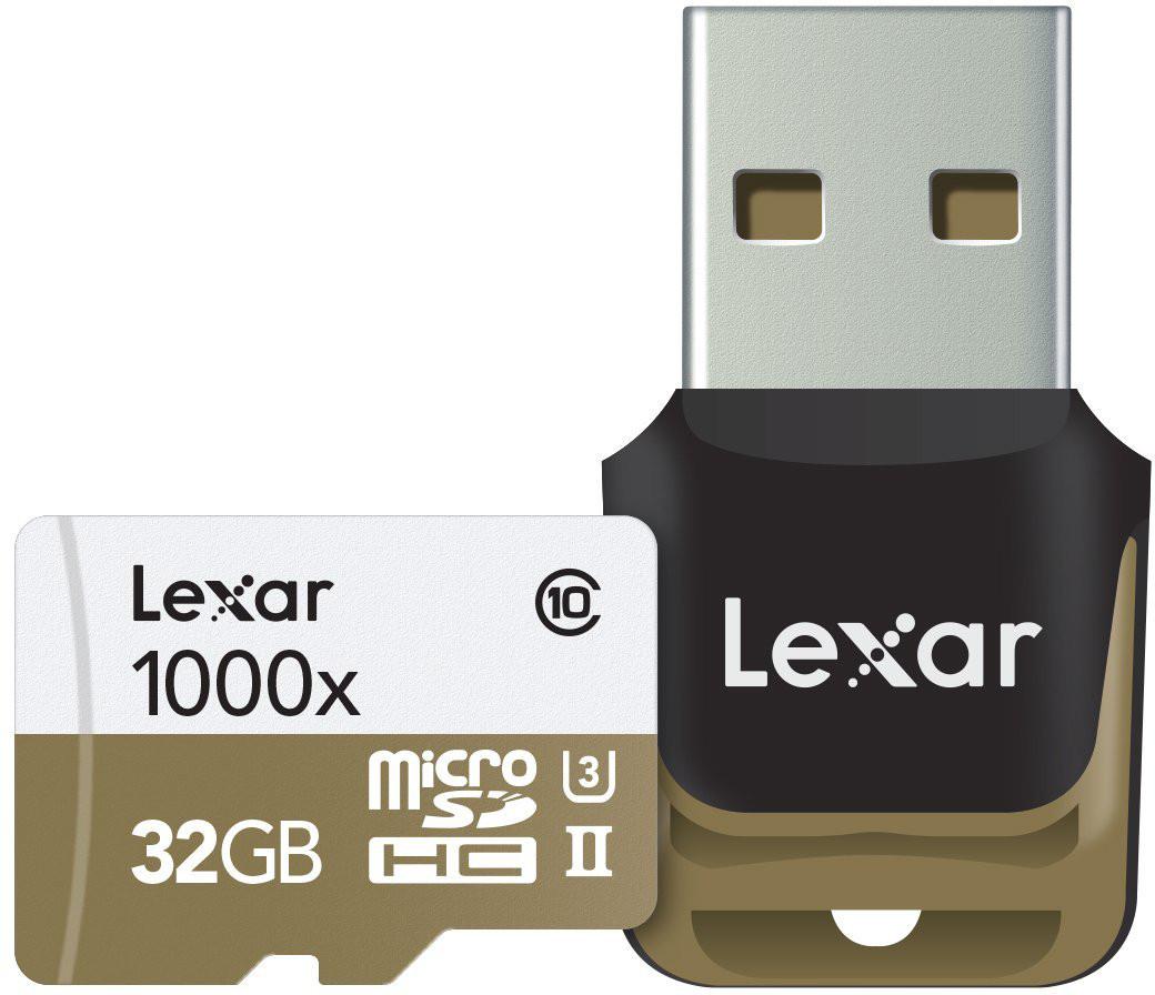 Lexar mälukaart microSDHC 32GB Pro 1000x V60 + m..