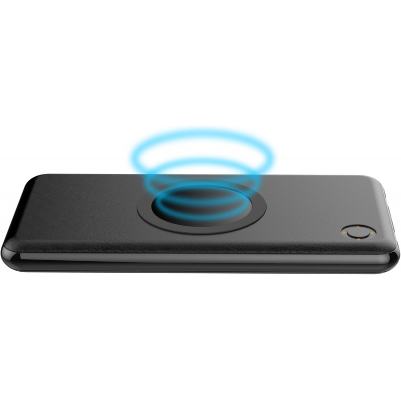 Platinet power bank 10000mAh 2xUSB Wireless QI, black (44572)
