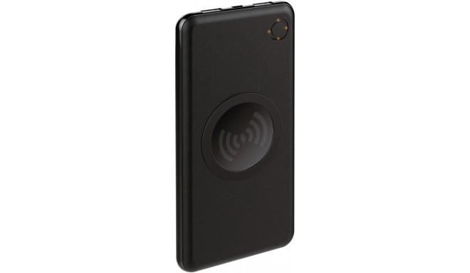 Platinet lādētājs-akumulators 10000mAh 2xUSB Wireless QI, melns (44572)