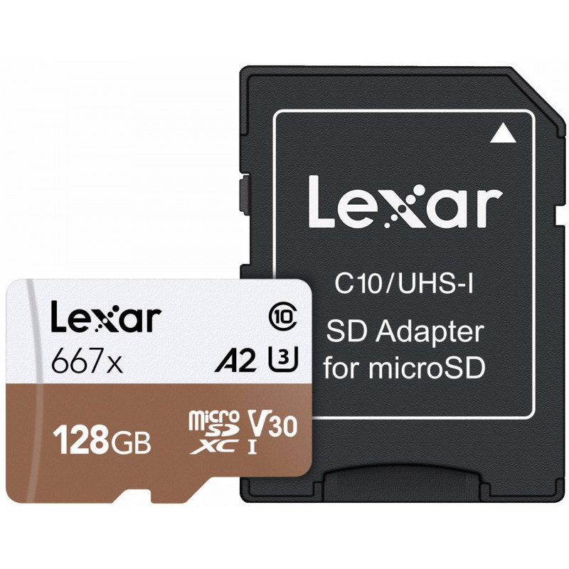 Lexar mälukaart microSDXC 128GB Pro 667x U3 V30 + adapter