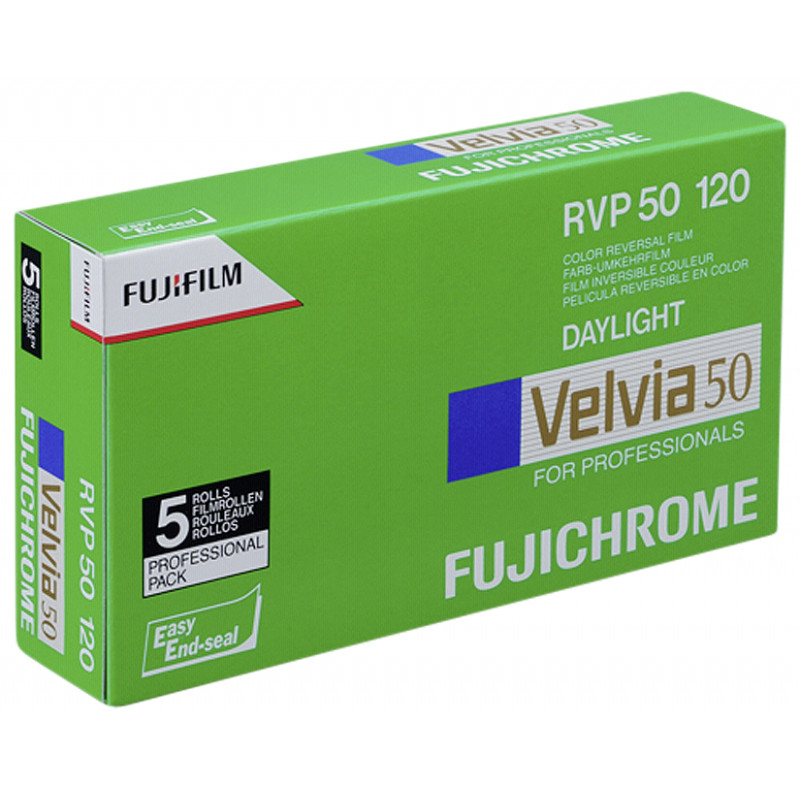 Fujichrome film Velvia RVP 50-120x5