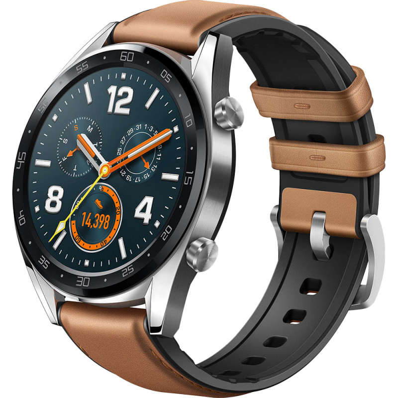 Huawei Watch GT, hõbedane/pruun