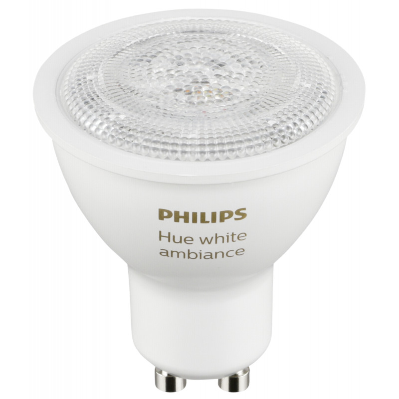1x2 Philips Hue White Ambiance LED GU10 DIM 5,5W (40W) white