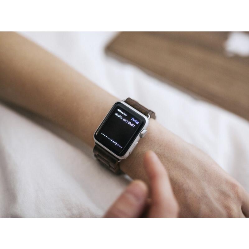 woodcessories 42mm  Woodcessories EcoStrap Apple Watch Band 42mm, walnut silver ...