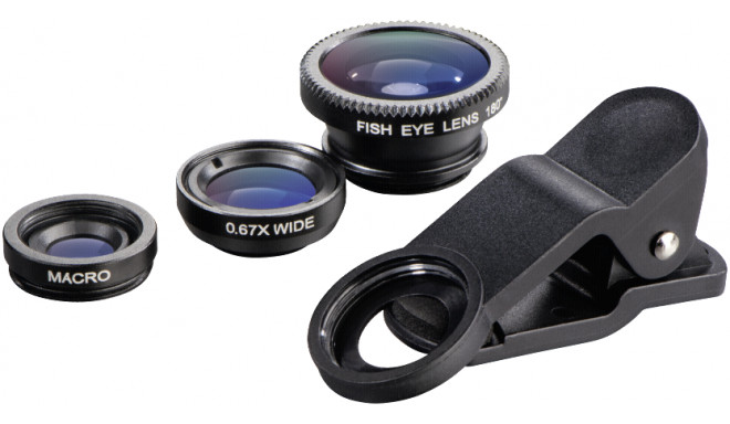 Hama 3in1 Lens Set for Smartphone and Tablets