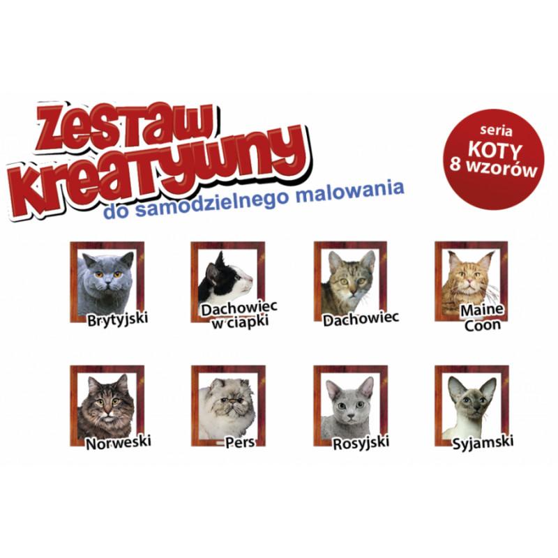 KOTY - Wypukła Malowanka Seria KOTY - MAINE COON