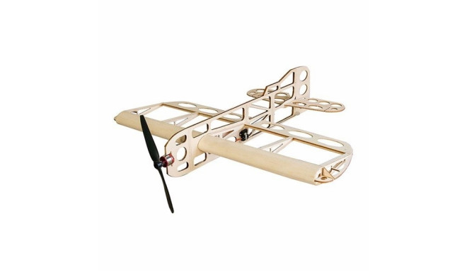 Airplane GEEBEE Balsa Kit (wingspan 600mm) + Engine + ESC + 3x Servo