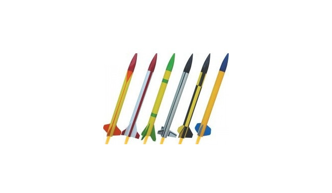 Six rockets set CLASSIC MAXI – wooden ribs 3502
