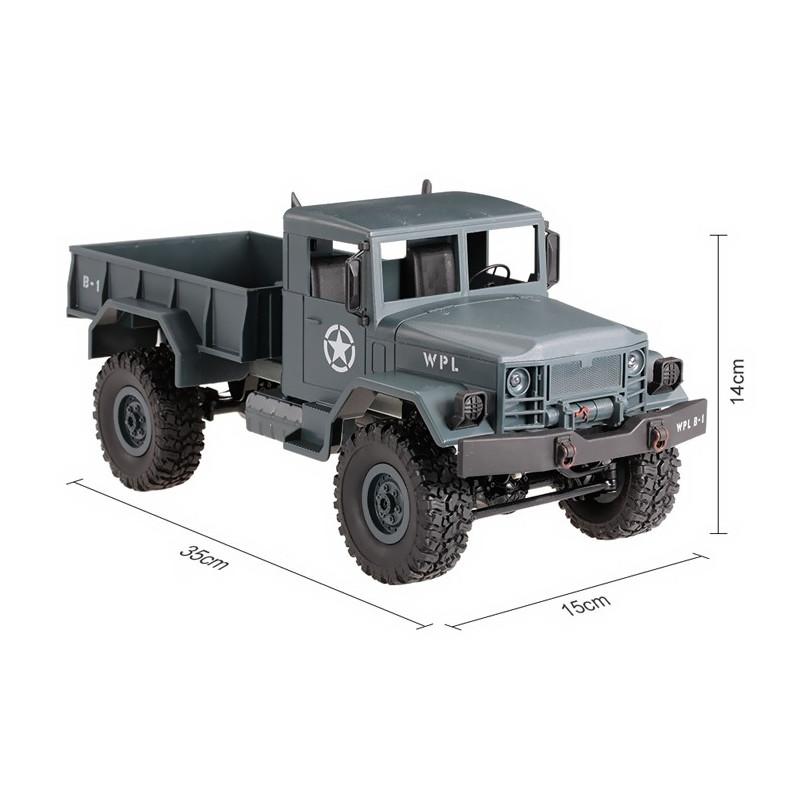 Army Truck WPL B-14 1:16 4x4 2.4GHz RTR - Blue