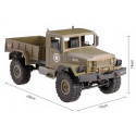 Army Truck WPL B-14 1:16 4x4 2.4GHz RTR - Yellow