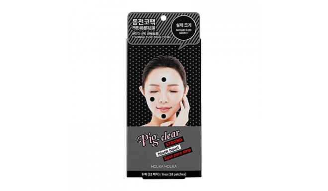 Holika Holika Pig Nose Clear Strong Blackhead Spot Pore Strip (6 sheets)