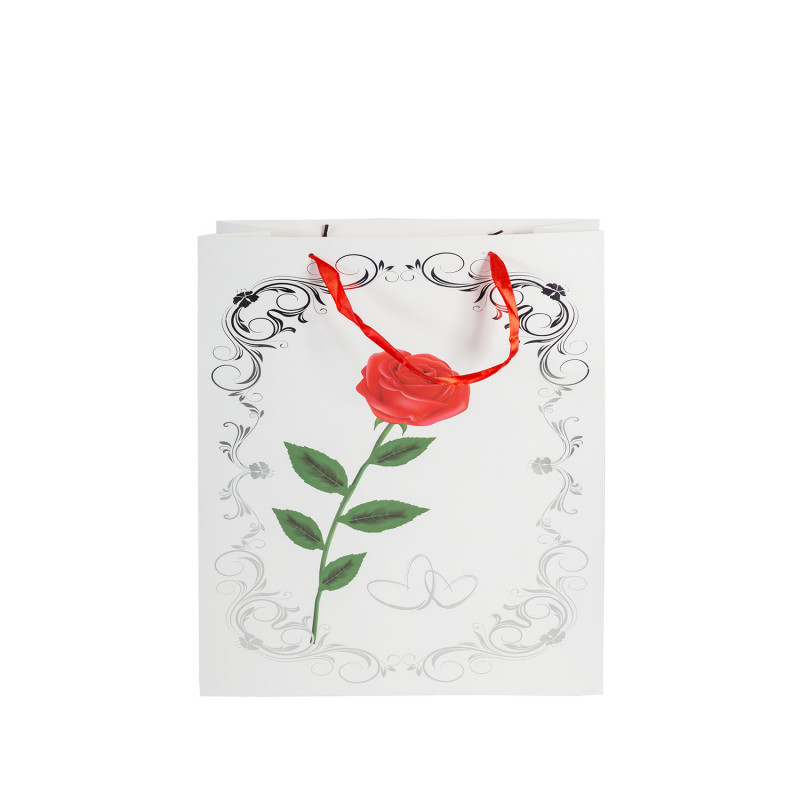 Kingikott ROSE 23x18x10cm, roos, valik 3 erinevat mustrit