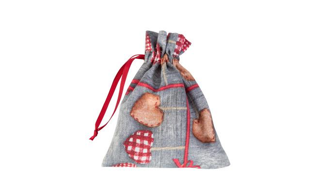 Kingikott LOVE & LOVE 13x16cm, südamed ja vana puit, 50%puuvill / 50%polüester, kangas-177