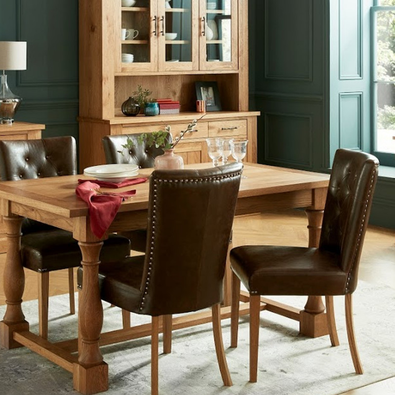Dining Table Westbury 90x155 200xh76 5cm Wood Oak Color Natural Finishing Lacquered