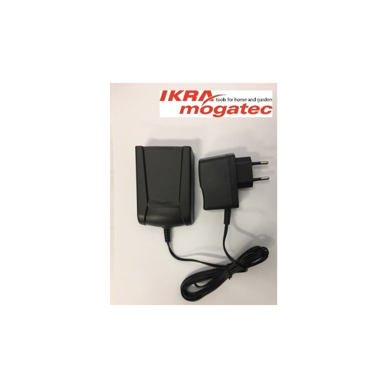 """A charger for a 20 V """"Ikra"""" battery"""