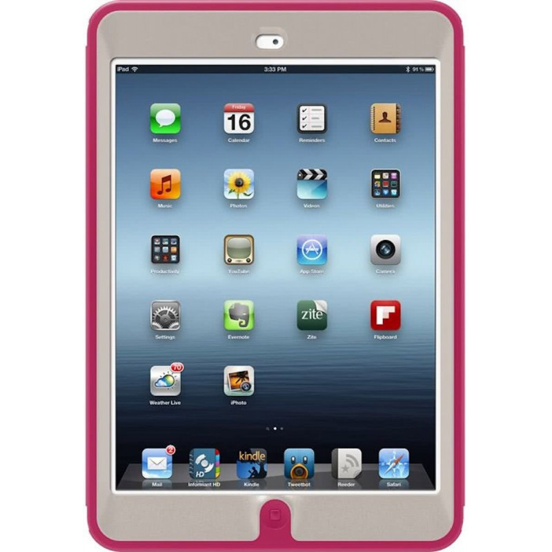 buy popular b03a2 35227 OtterBox case Defense Apple iPad Mini + stand, pink