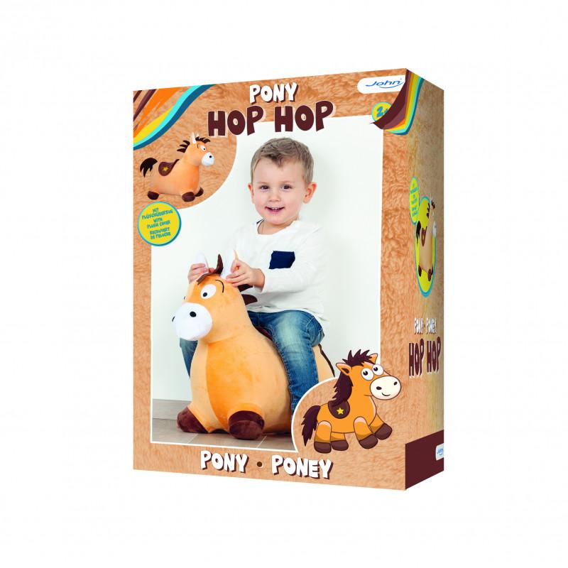 JOHN pehme kattega hüppehobu Hop Hop poni, 59043