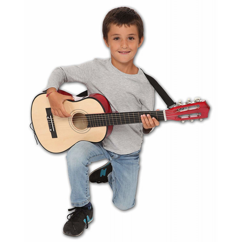 b643b1c6734 BONTEMPI klassikaline puidust kitarr õlapaela ja kandekotiga L. 75 cm, 21  7521