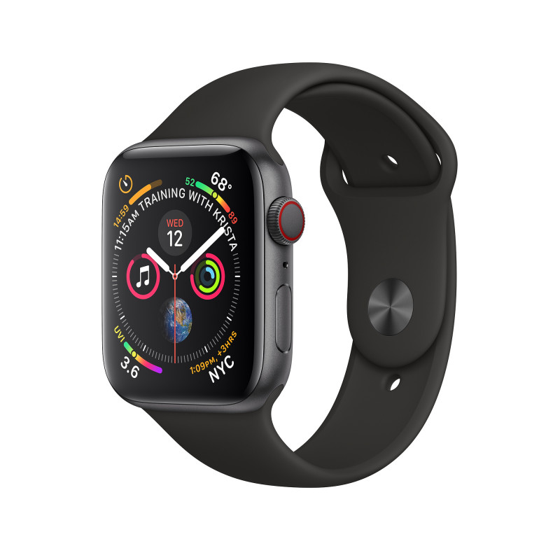 Apple Watch S4 44mm SG Alu Black Sport Band (GPS) MU6D2GK/A