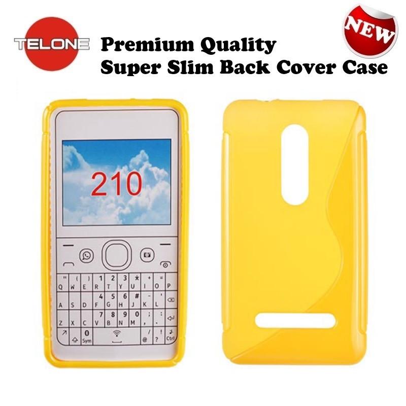 uk availability 709ac 16940 Telone case Nokia Asha 210, yellow