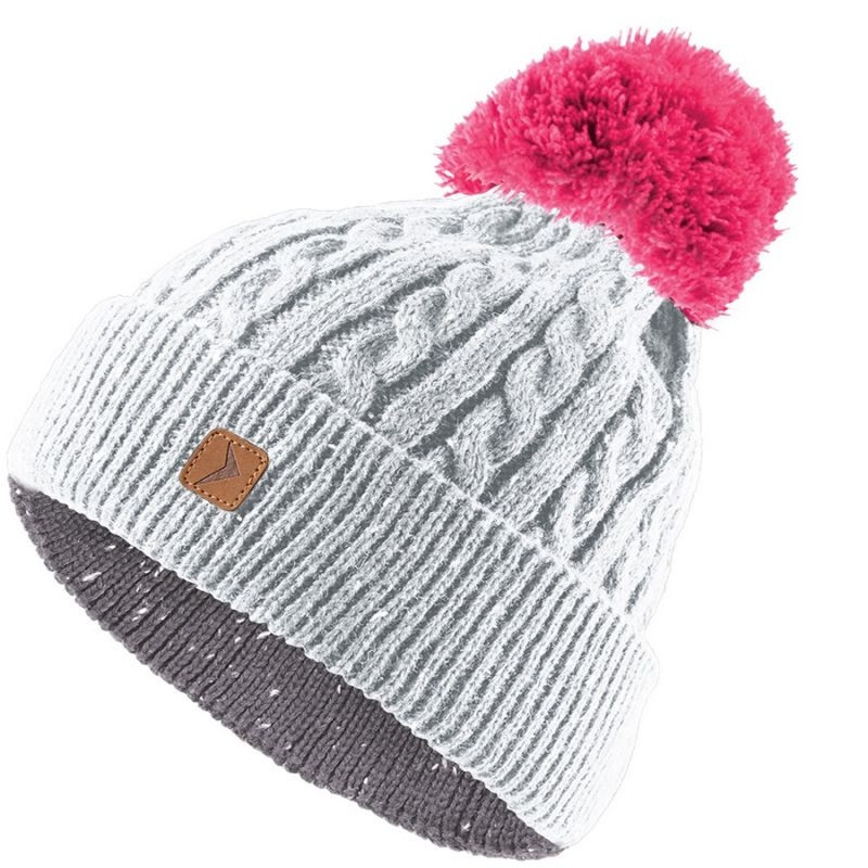 4d9b5cecedf Women's winter hat Outhorn W HOZ17-CAD607 gray-pink - Hats - Photopoint