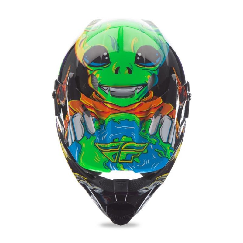 Children's Motocross Helmet Fly Racing Kinetic Youth Invasion