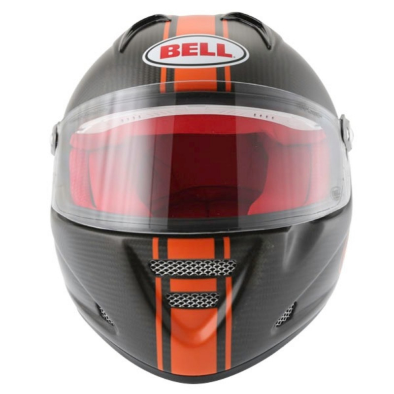 Mootorratta kiiver BELL M5X Daytona Carbon matt oranz