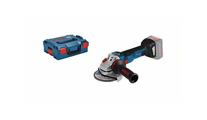 Bosch Cordless Angle Grinder GWS 18 V-10 PSC Professional (blue / black, L-BOXX, without battery and