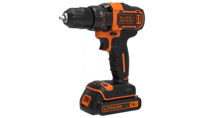 Black&Decker BDCDD186KB-QWBlack&Decker BDCDD186KB Pistol grip drill Lithium-Ion - Li-Ion 1.5Ah Black