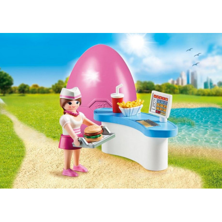 e252f985e8f Playmobil mängukomplekt Ettekandja ja kohvikulett (70084)