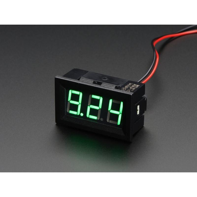 6a601f05e01 Voltmeeter 4.5-30Vdc, paneelile - Muud tarvikud - Photopoint