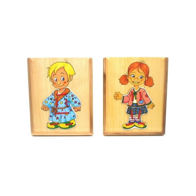 Brimarex wooden puzzle Dress Up