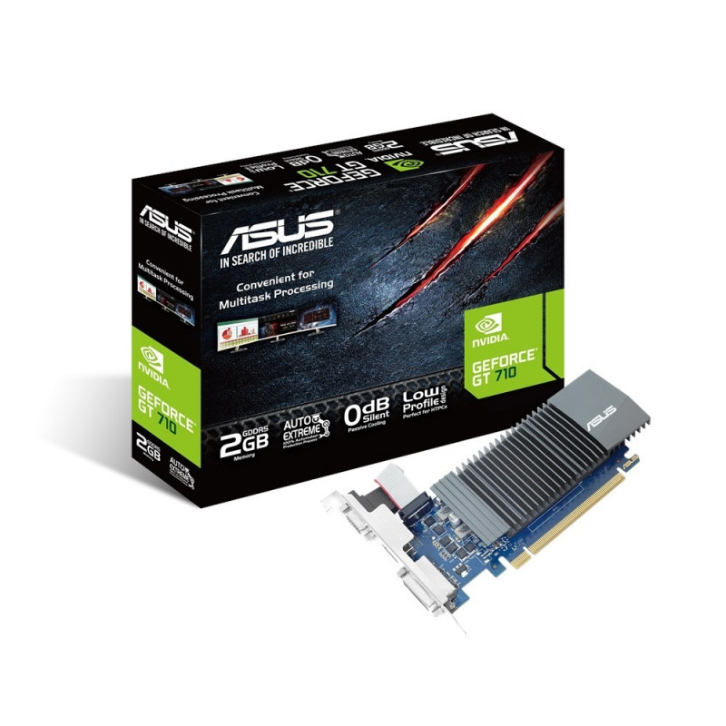 Asus graphics card GeForce GT 710 2GB GDDR5 64bit DVI-D/HDMI/D-Sub