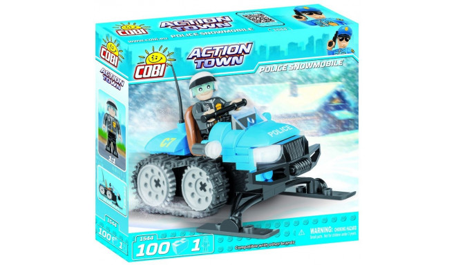 Action Town Police snowmobile 100 elements