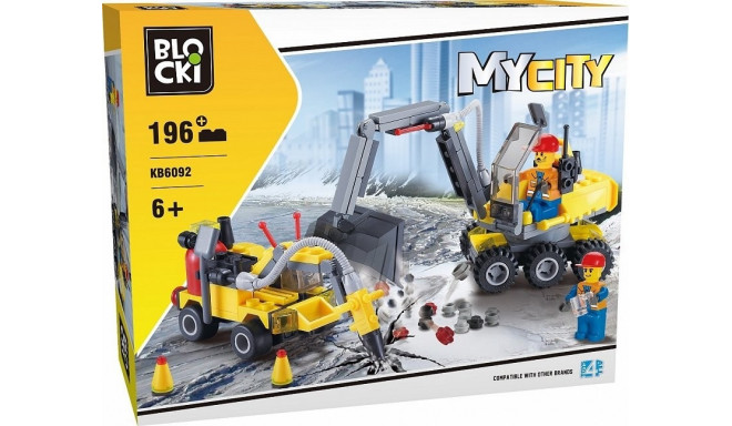 Blocks MyCity 196 elements Construction vehicles