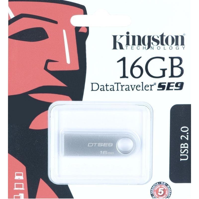 Kingston mälupulk 16GB USB 2.0, hõbedane (DTSE9H/16GB)