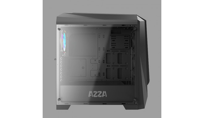 AZZA Chroma 410A Side window, Black, ATX, Pow