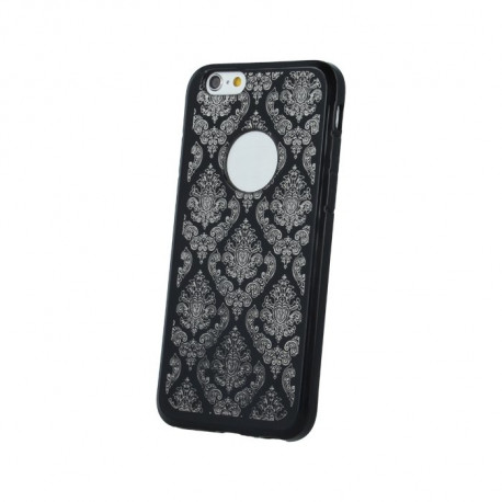5644e75d9bd Mocco Ornament Back Case Silicone Case for Samsung A320 Galaxy A3 (2017)  Black