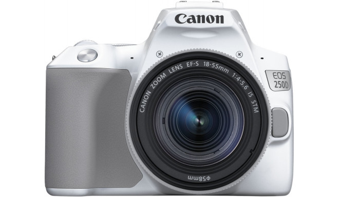 Canon EOS 250D + 18-55mm IS STM Kit, balts