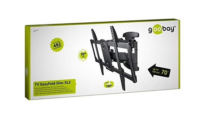Goobay TV wall mount EasyFold Slim XL2 37-70""