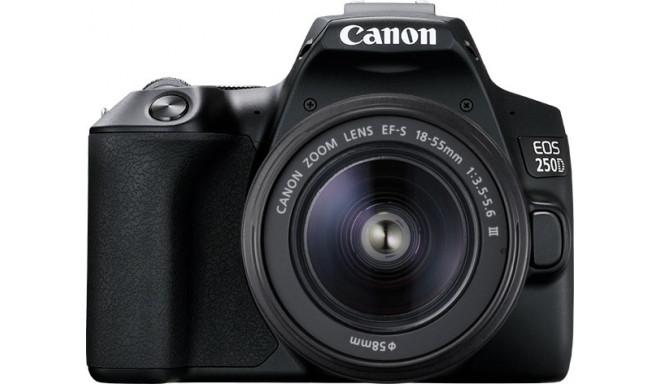 Canon EOS 250D + 18-55mm Kit, black