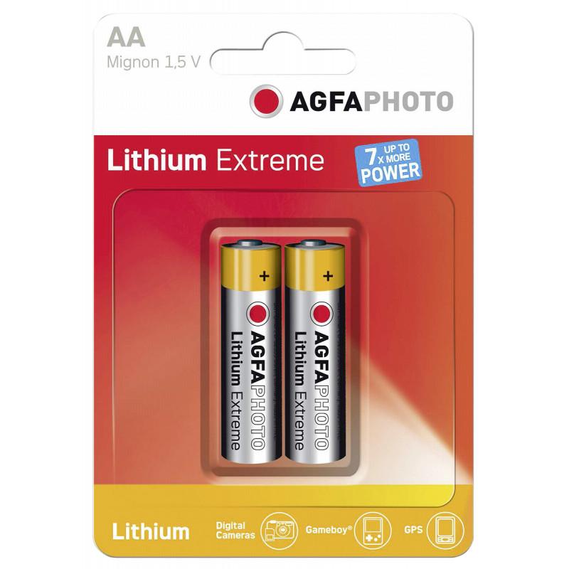 AgfaPhoto patarei Extreme Lithium Mignon AA LR 6 2tk