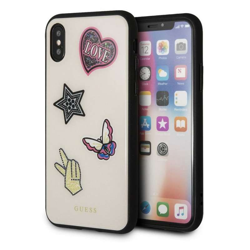 promo code a38b8 66935 Guess case GUHCPXACFGBE Iconic Apple iPhone X/XS