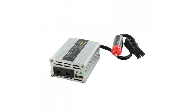 Inverter 12V DC - 230V AC  Power 100W, USB socket